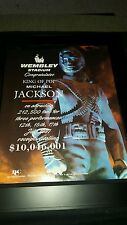 Michael Jackson Rare 1997 Wembley Stadium Concert Promo Poster Ad Framed!