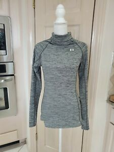 Under Armour Womens Athletic Compression Gray Long Sleeve  Top Sz S/M