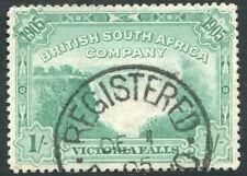 Rhodésie - 1905 Victoria Falls 1/- bleu-vert SG 97 Fine Used V20993
