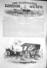 Original Old Antique Print 1856 Miss Florence Nightingale Carriage S Victorian