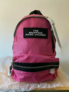BNWT Marc Jacobs The Medium Nylon Backpack Bag, Pink