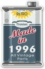 Aged Metal Tin Oil Can MADE IN 1996 Retro Novelty Ratlook Motorcycle car sticker