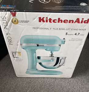 kitchen aid professional plus bowl lift stand mixer Ice Blue KV25G0XIC