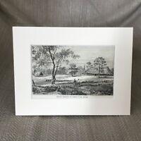 1890 Antico Stampa Belize Arancione Walk Landscape British Militare Caserma