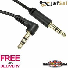 2m Meter Stereo Right Angled Male Jack to Straight Male Jack Cable 3.5mm Lead UK