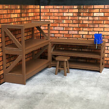 Work Bench with Vice, Shelf and Stool for 1:18 Scale Diorama Garage Scene