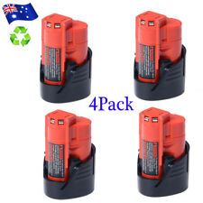 4x 12V 2.0Ah Li-Ion Battery For Milwaukee M12 M12B2 M12B3 48-11-2401 48-11-2411