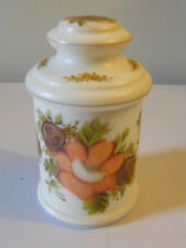 Beautiful Vintage Hand Painted Glass Candy/Cookie Jar/Canister Floral Pattern