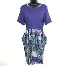 M Missoni Dress 6 42 New Purple Viscose Silk geometric knit 80s 90s retro