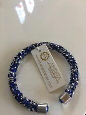 Amrita Singh blue & silver crystal cuff bracelet NOW £25