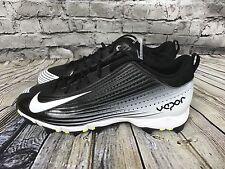 New Mens Black Gray & White Nike Vapor Keystone Football Cleats 11.5