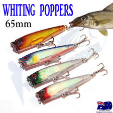 4X 65mm Whiting Popper Topwater Fishing Lures Poppers Pencil Stick Bait Tackle