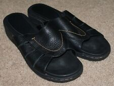 Azaleia Slides Sandals Shoes Black Leather  Womens Size 8.5 Right 8 Left