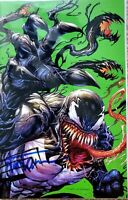 "🔥 ""HOT"" VENOM #25 VIRGIN SIGNED BY TYLER KIRKHAM EXCLUSIVE VARIANT w/ COA"