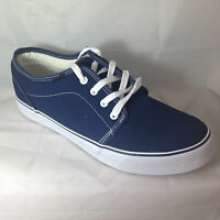 MENS DECK SHOES BOAT CANVAS NAVY BLUE BEACH PLIMSOLLS YACHTING LACE UP TRAINERS