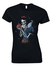 Snow White Zombie Gothic Tattos Bones Apple Princess Disney Womans T-shirt AM48