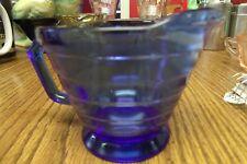 VINAGE COBALT BLU RIDDGED GLASS CREAMER