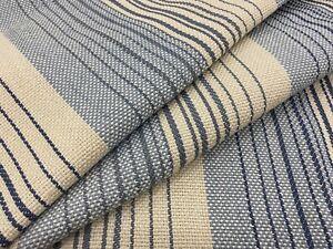 Cowtan & Tout Woven Stripe Uphol Fabric- Iona Stripe / Sky Blue 3.35 yd 11146-02