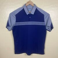 Adidas Golf Polo Shirt Mens Size XL Blue Gray Climacool Short Sleeve Collared