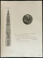 1926 - Litografia citazione suono Eminence il cardinale Mercier