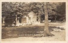 RPPC Camp Scene LAKE AUGUSTA South Haven, MN ca 1910s Vintage Photo Postcard