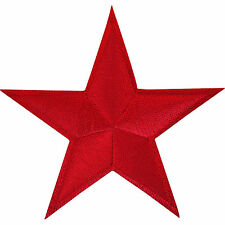 Red Star Patch Embroidered Iron Sew On Applique Badge Motif Russia China USSR