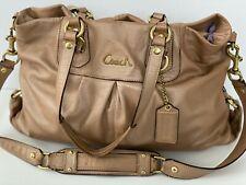 Coach Bag Ashley Champagne Tan Gold Leather Handbag $400 Retail D1126-F15513