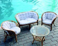 Salottino salotto da esterno completo in Vimini dely tavolo,divano poltrone