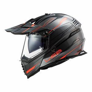 XL LS2 Adventure Motorbike Helmet PIONEER EVO EVOLVE Titanium Orange