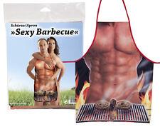 773301 Grembiule Cucina Uomo Barbecue Stampa Sexy Busto Uomo Nudo con Salsicce
