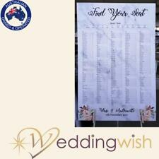 Wedding Seating Chart Printed A1 Table-Seating Board - Marble Look Sign
