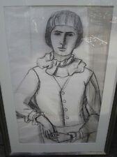 Schmitz - Imhoff Käthe 1893-1984 Portrait Gisela Gemälde Handzeichnung Bleistift