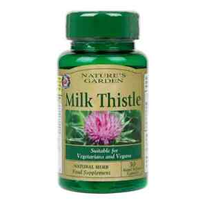 Natures Garden Milk Thistle 30 Capsules Free UK Delivery!