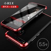 size 40 405ed 930b4 For Xiaomi Mi A1 (5X) Aluminum Case Metal Bumper + Tempered Glass ...