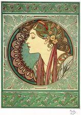 A3 Sized Laurel Art Nouveau Alphonse Alfons Mucha Vintage Poster Giclee Print