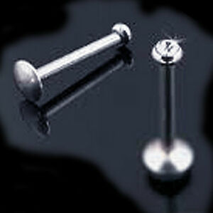 18g IMPLANT GRADE TITANIUM w 2.5mm CZ Tragus Helix Cartilage Stud NICKEL FREE