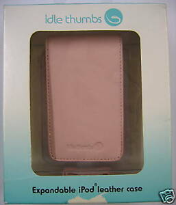 Expandable Pink Leather Case- For iPod 30 60 80GB BNIB