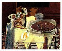 BRAQUE 1945 Lithograph +COA Georges Braque Rare Edition DELICIOUS RARE ART PRINT