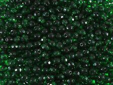 Crystal Glass Faceted Beads Green 8mm. 75pcs Beading Jewellery FREE POSTAGE