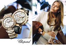 PUBLICITE ADVERTISING  2011 CHOPARD  montres  (2 pages)