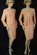 NWT St John 3 pc Sorbet Twill Knit Suit sz 4 Shell Skirt Jacket Pockets, Fitted