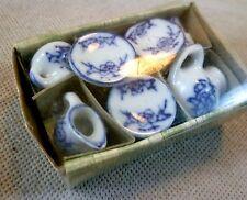 Collectable Dolls House Accessories - Blue & White Tea Set - BNIB