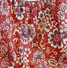 Ralph Lauren Villa Martine Bed Skirt - Full - Red Blue White Floral