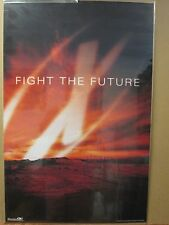 """vintage The X Files Tv series """"Fight the future"""" poster 1998 6940"""