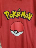POKEMON Mens L Pokeball T-Shirt in Red