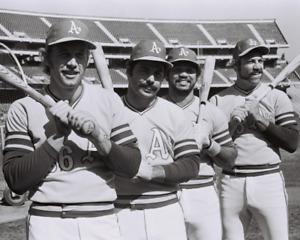 1972 REGGIE JACKSON, JOE RUDI, SAL BANDO & CO. OAKLAND A'S Glossy Photo 8x10