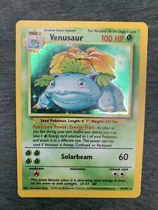 Pokemon Venusaur Base Set Unlimited Holo 15/102 WOTC Card