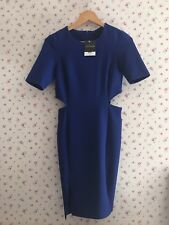 TOPSHOP Electric Blue Cut Out Mini Dress 8 BNWT