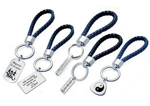 Praktischer Schlüsselanhänger aus Edelstahl mit Gravur nach Wunsch Schlüsselbund
