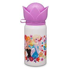Disney Store Anna and Elsa Aluminum Water Bottle Small Frozen BPA Free 12 oz NWT